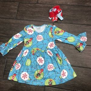 Other - Cat In The Hat Dress with bow Dr Seuss